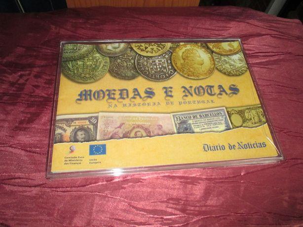 Moedas e Notas na Historia de Portugal contem uma Caderneta de Notas