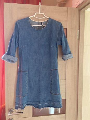 Джинсовое платье (zara stradivarius) L размер