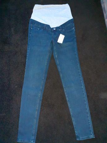 Jeansy ciążowe 34