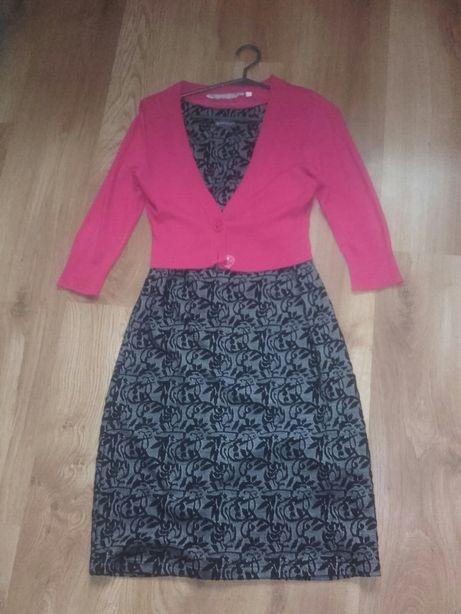 NOWA Elegancka sukienka Greenpoint rozm.40 + gratis sweterkowe bolerko