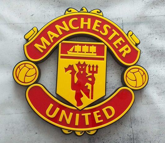 Duży przestrzenny herb Manchester United