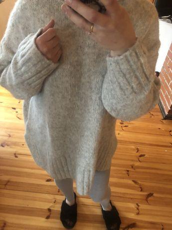 Sweter oversize H&M z alpaka