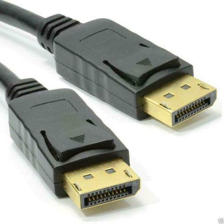 Cabo DisplayPort 1,8 m. V 1.2 P/ Monitor Gaming - Selado de Origem