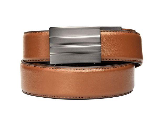 Pasek do spodni KORE Essentials X2 skórzany jasnobrązowy regularny