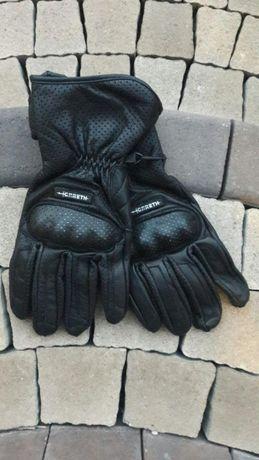Rękawice motocyklowe długie Gareth XL czarne naked sport turystyczne
