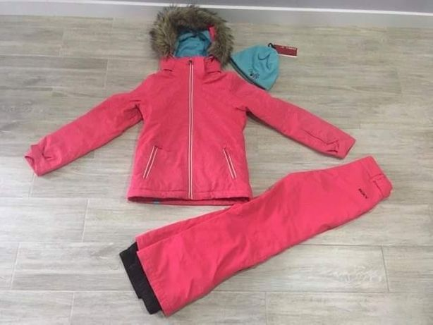 Roxy zestaw zimowy kurtka spodnie czapka r. 152/158 bardzo zadbany