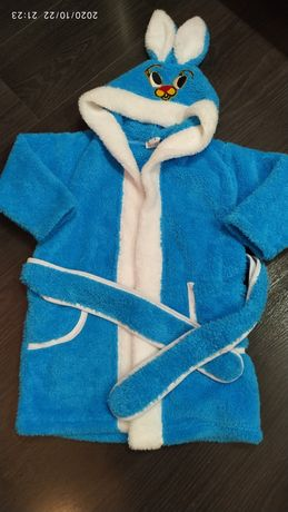 Махровый халат на мальчика 86р. До 3-х лет.