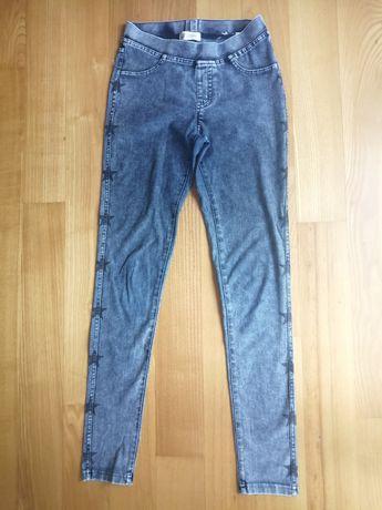 Legginsy jeansowe 2 pary 152 cm.