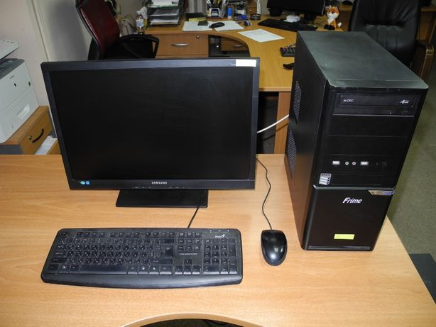 "Офисный компьютер с монитором 22"" CPU Intel (2 ядра) 3.0GHz, 500GB HDD"
