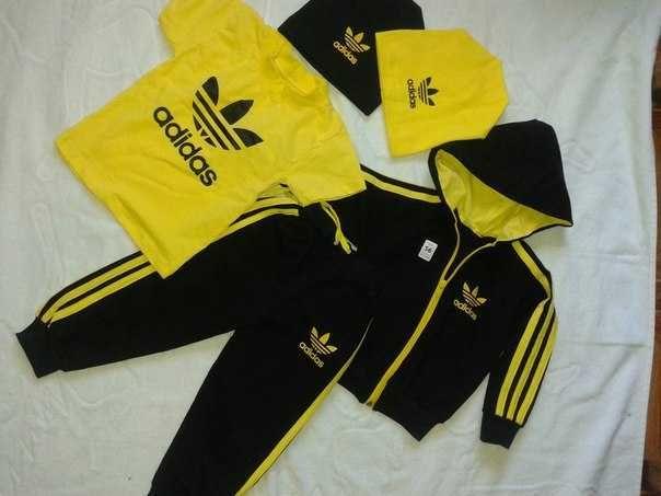 Sportowy dres komplet zestaw koszulka bluza spodnie Adidas trójka 80