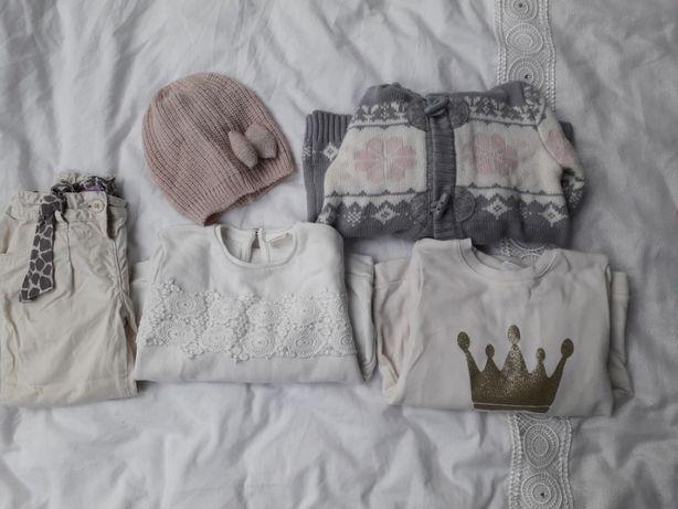 Zestaw ubrań 5 szt .ZARA, H&M, F&F, Baby Club r.92