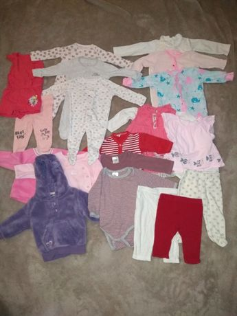 Ubranka niemowlęce dla dziewczynki rozmiar 62 -duży zestaw