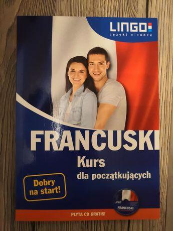 Książka francuski kurs dla początkujących + płyta