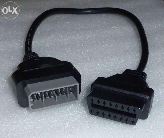 Nissan 14 pin adaptador para obd2 dlc 16 pin femêa