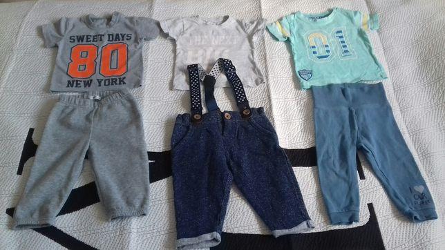 Ubranka chłopięce, spodnie, bluzki, bluzy
