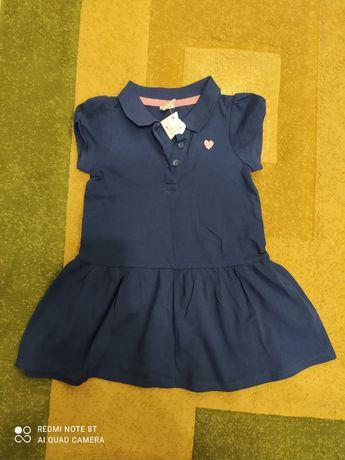 Платье сукня плаття сарафан на девочку недорого синие 86 рост