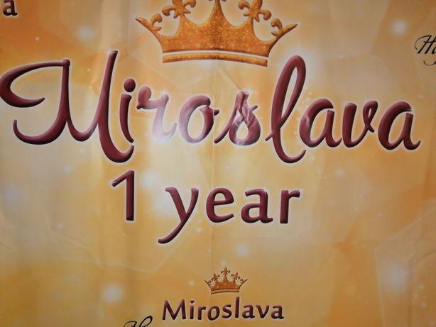 """Баннер, фотозона именная """"Мирослава 1 годик"""""""