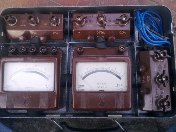 Прибор М45М вольтметр/амперметр