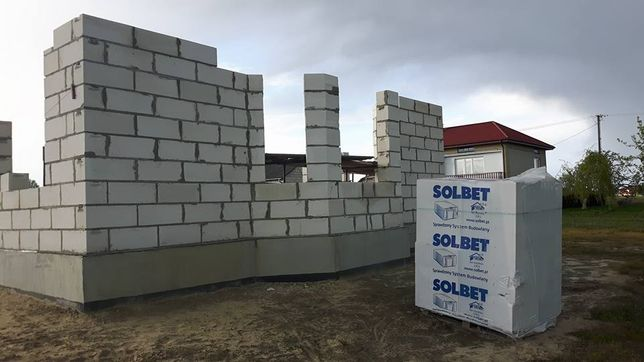 Bloczki Betonu Komórkowego SUPOREX SOLBET BELIT 59x24x24cm