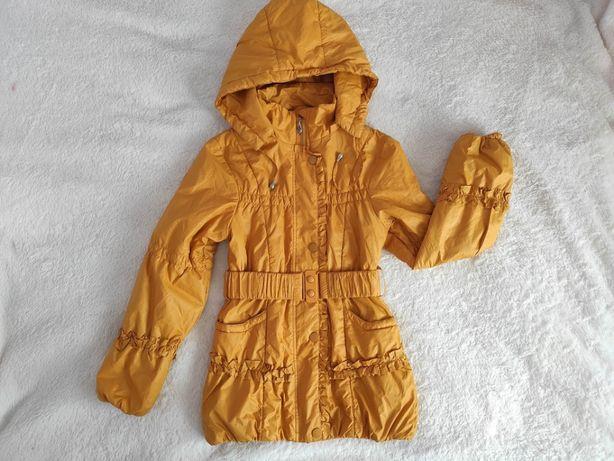 Куртка детская демисезонная на девочку рост 152 с капюшоном
