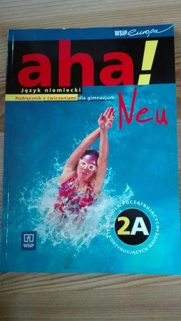 Aha! Neu 2A - Podręcznik z ćwiczeniami do języka niemieckiego