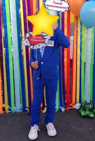 Стильный льняной костюм на 5-7 лет. Стиляга.