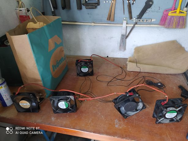 Ventoinhas 230v e 12v ideal para computadores, quadros, pc
