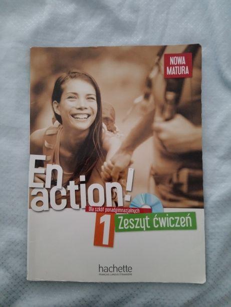 En Action 1 zeszyt ćwiczeń do francuskiego liceum