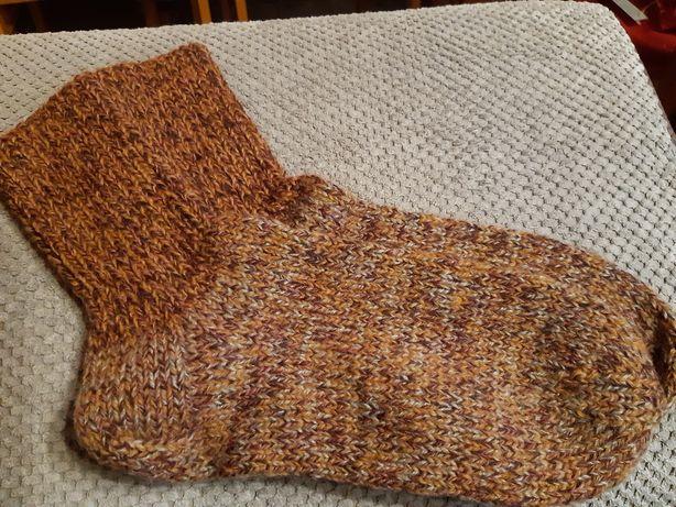 Skarpety męskie,damskie, robione na drutach.