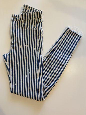 Calças zara skiny jeans cintura subida