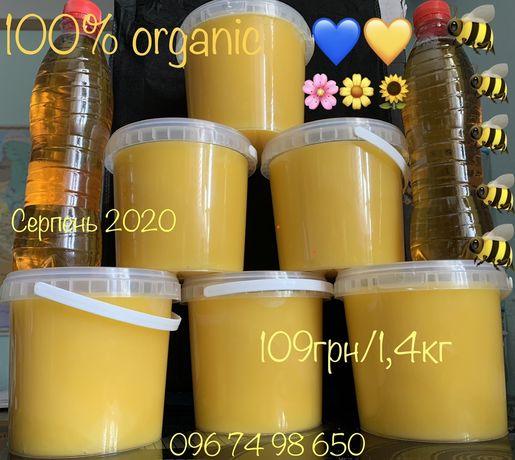 Мед, медовий напій, соти, пилок, прополіс, з власної пасіки, Organic