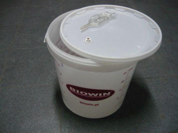 Pojemnik fermentacyjny, balon wino 30 litrów z pokrywką i rurką