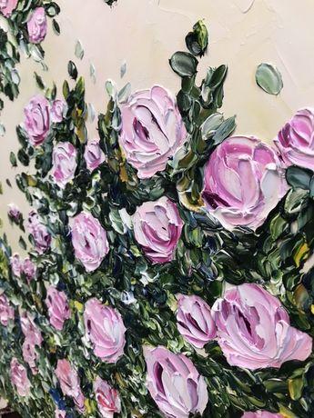 Картина Квіти олійними фарбами на полотні