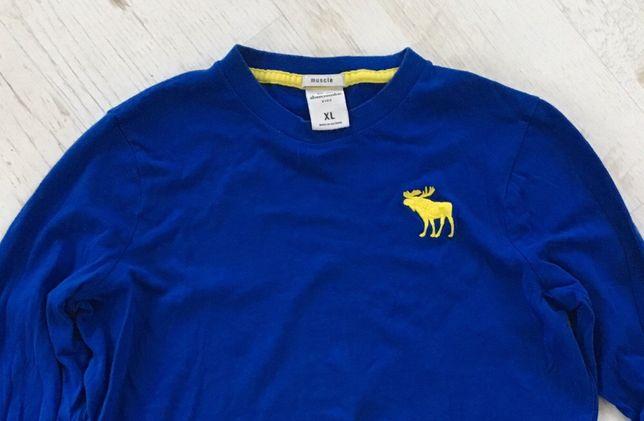 Niebieska bluzka rozmiar XL 100% bawełna Abercrombie