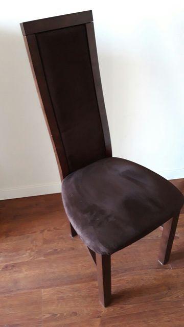 Zestaw 4 Krzeseł z drewna dębowego