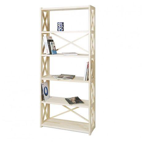 Стеллаж деревянный , этажерка на 6 полок RAN6