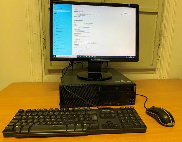 Conjunto LENOVO Thinkcentre SFF i3, 4gb, WIFI, 500 GB + Monitor 19'