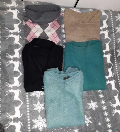 Swetry paka ubrań pięć swetrów 40zł rozmiar M