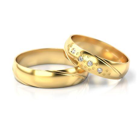Złote obrączki próba 585 (wzór ST-304) - para