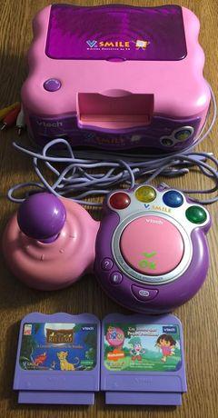 Consola V-Smile Dora + 2 jogos