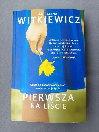 Pierwsza na liście, Magdalena Witkiewicz powieść