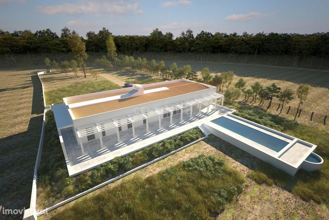 Lote+construção de moradia térrea com 400m2 , piscina, garagem num ter