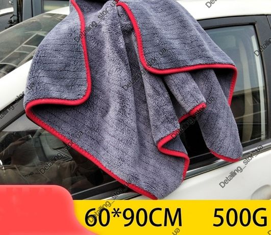 двухсторонняе микрофибровое полотенце для сушки авто