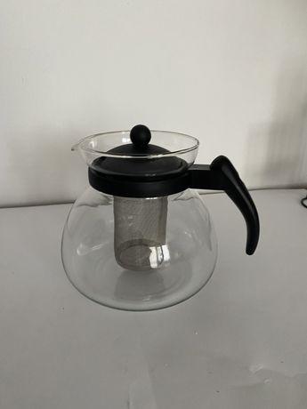 Dzbanek zaparzacz do herbaty 1,2 l szklo z sitkiem