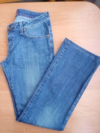 Dżinsy jeansy proste granat przecierane 34 XS 6 W26L30 Big Star