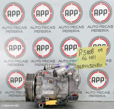 Compressor ar condicionado Peugeot 5008 1.6 HDI referência 9684432480.