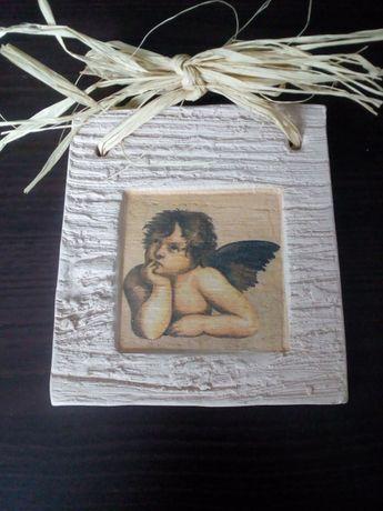 Obrazek gipsowy z aniołkiem