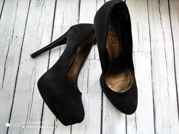 Замшевые туфли plato 25см