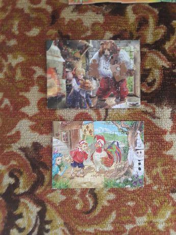 Пазлы Буратино маша и медведь мелкие детали развивающие игры