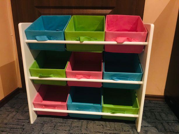 Półki z koszykami do pokoju dziecięcego + 3 piętrowe pudełeczko